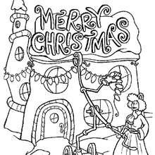The grinch throws christmas letters out coloring pages
