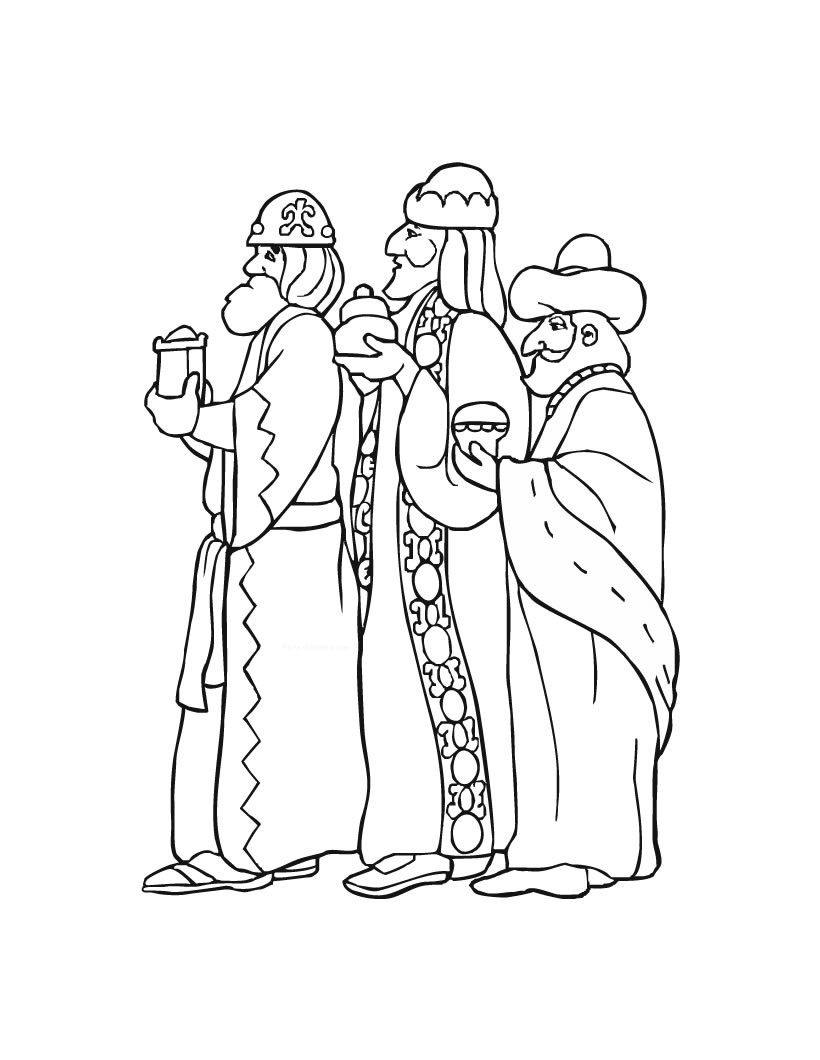 Three kings day coloring pages / Three kings day coloring