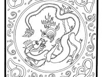 Widescreen Dragon Mandala Coloring Page Of Pages Androids High Resolution Printable