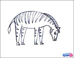 zebra draw easy drawing simple drawings sketch step savanna animals paintingvalley hellokids sketches