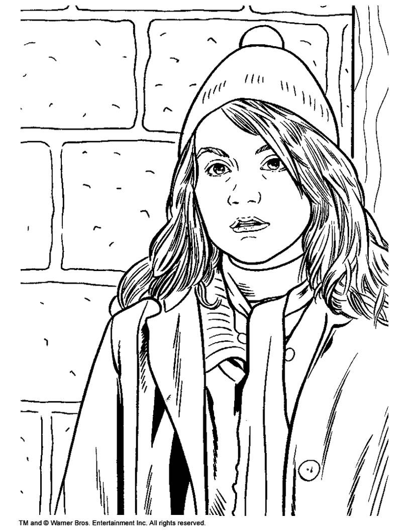 Hermione Granger Coloring Pages : hermione, granger, coloring, pages, Hermione, Granger, Coloring, Pages, Hellokids.com