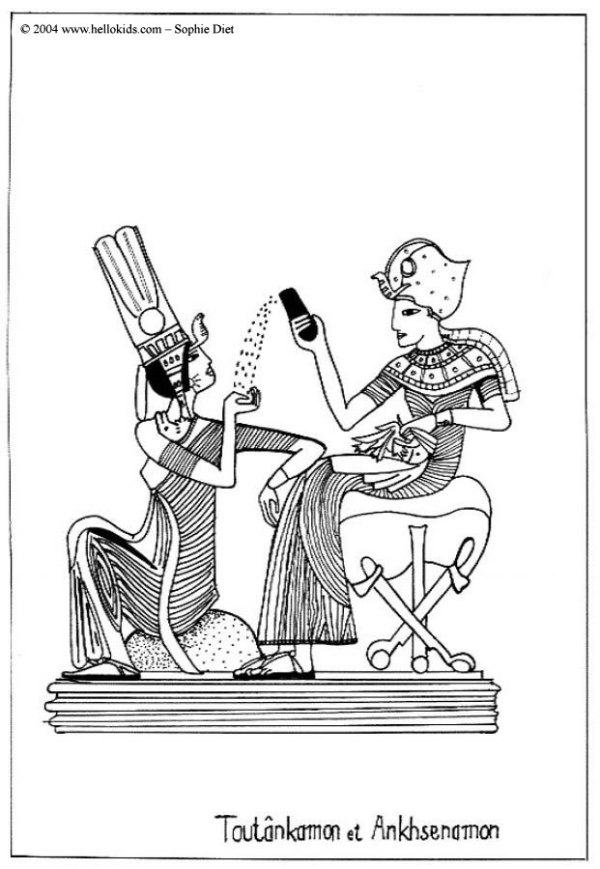 king tut coloring page # 5