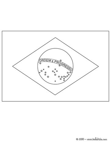 Flag of brazil coloring pages - Hellokids.com