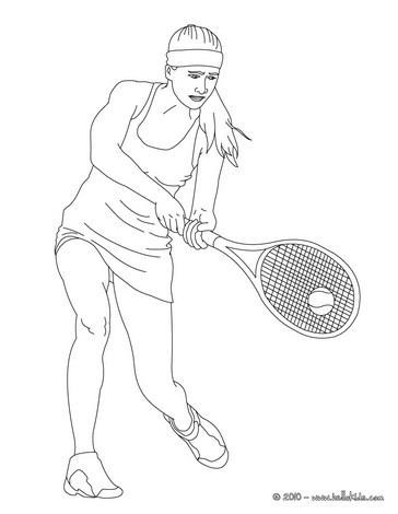 Woman tennis player performing a double-handed backhand