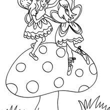 fairies on a mushroom