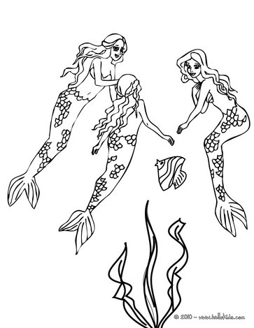 free mermaid coloring pages # 53
