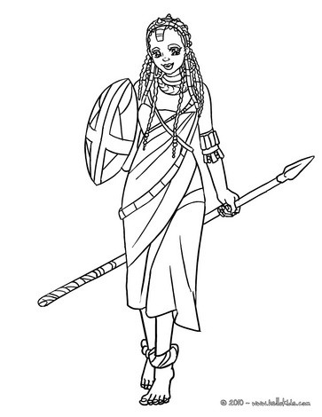 Free Coloring Pages for Children of Color (non-commercial)