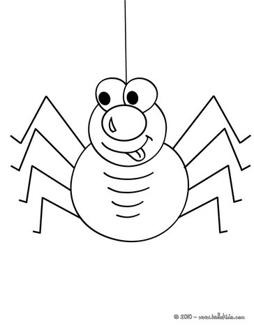 Spider Coloring Template Coloring Pages
