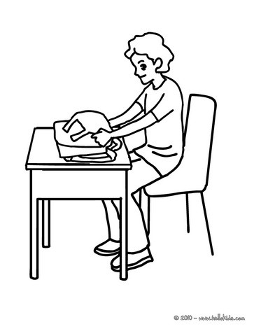 School bag colouring pages