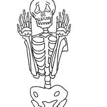 Skeleton Coloring Pages 14 Printables To Color Online For Halloween