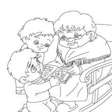 Grandmother : Coloring pages, Reading & Learning, Daily