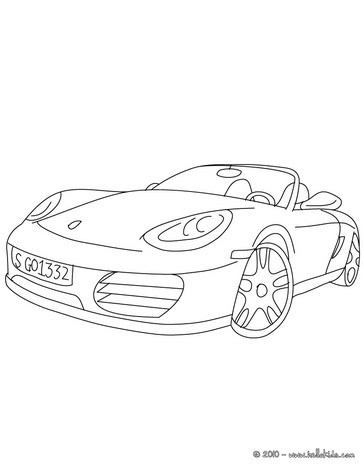 Sports Coloring Pagesporsche Boxster Cabriolet Coloring
