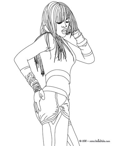 Coloring pages How to draw rihanna