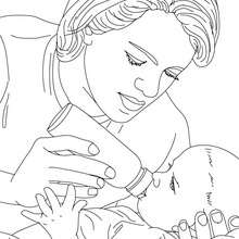 Baby : Coloring pages, Drawing for Kids, Reading