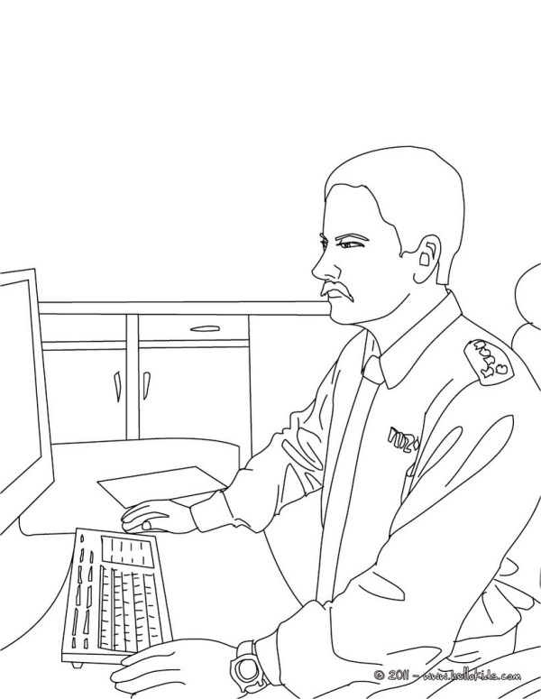 policeman coloring page # 46