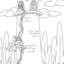 Rapunzel : Coloring pages, Free Online Games, Reading