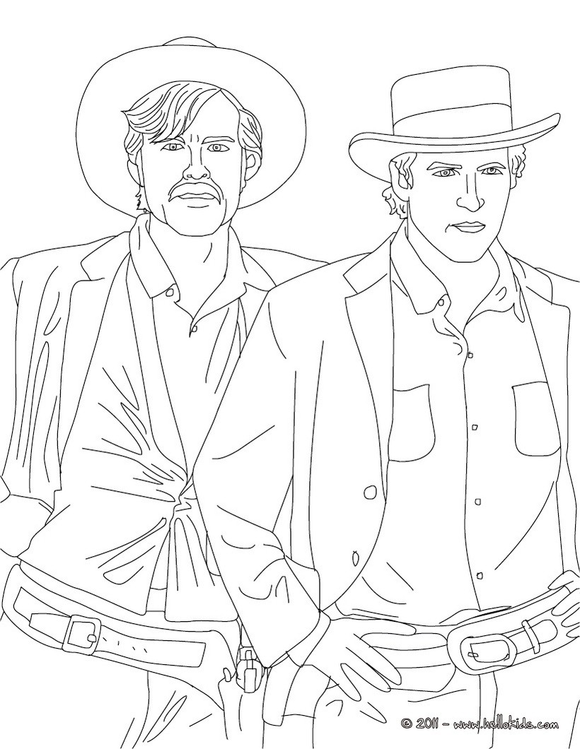 butch cassidy coloring pages  hellokids