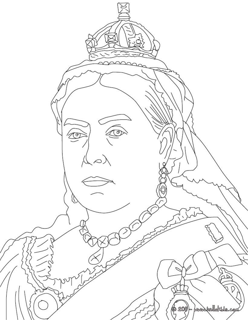 Queen Elizabeth Ii Coloring Pages Hellokids
