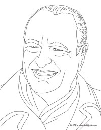 President jacques chirac coloring pages - Hellokids.com