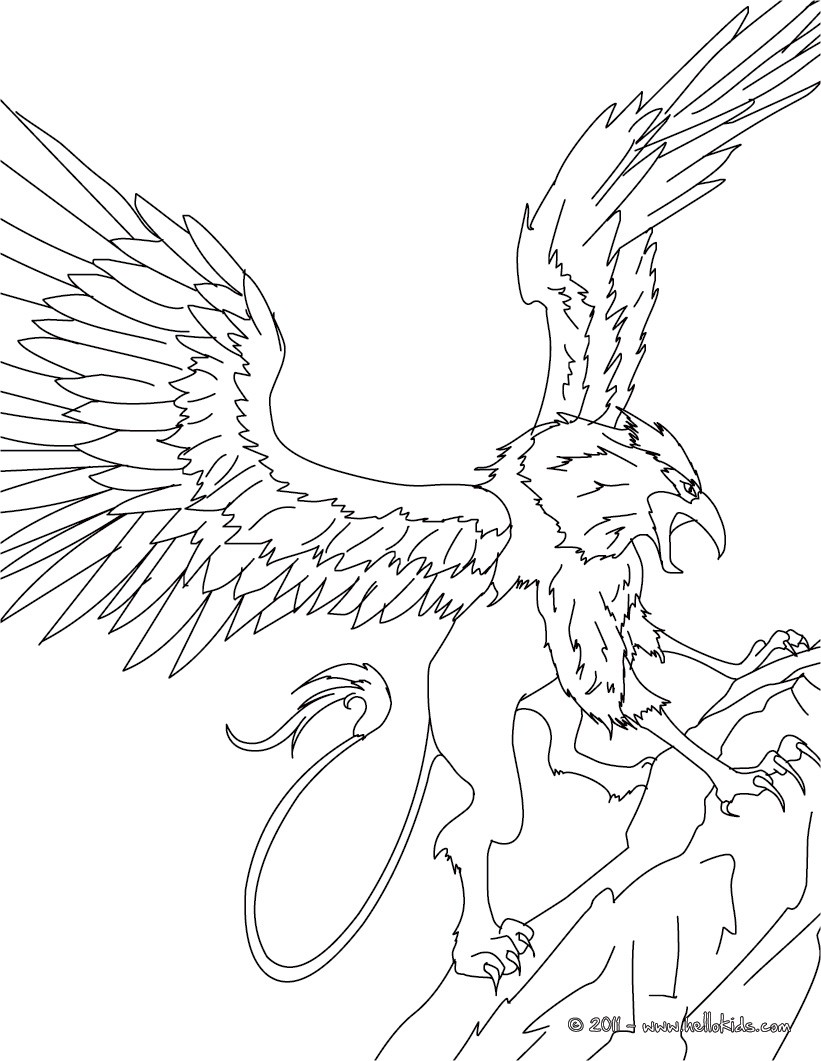 Griffin The Majestic And Powerful Creature Coloring Pages Hellokids Com