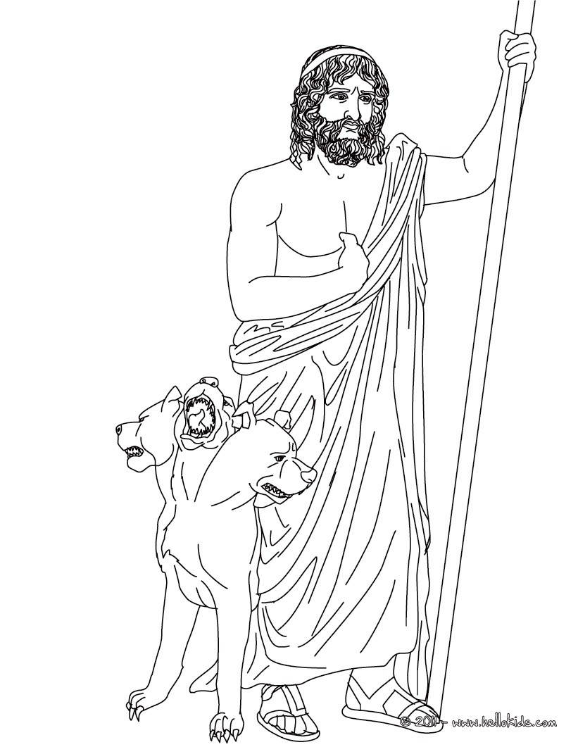 Hades the greek god of the underworld coloring pages