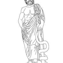 Hephaestus the greek god of fire coloring pages