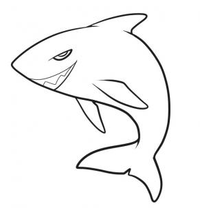 shark draw step drawing sketch line easy whale megalodon animals sharks clipart steps killer dragoart clipartmag hellokids tiny clip library