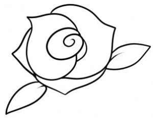rose draw step drawing flowers easy roses drawings flower cartoon hellokids tiny