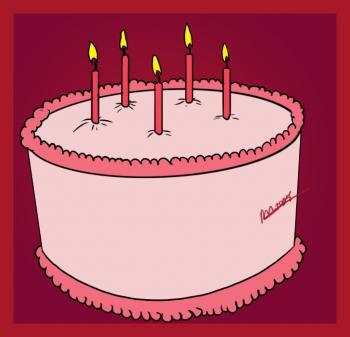 How To Draw How To Draw A Simple Birthday Cake Hellokidscom