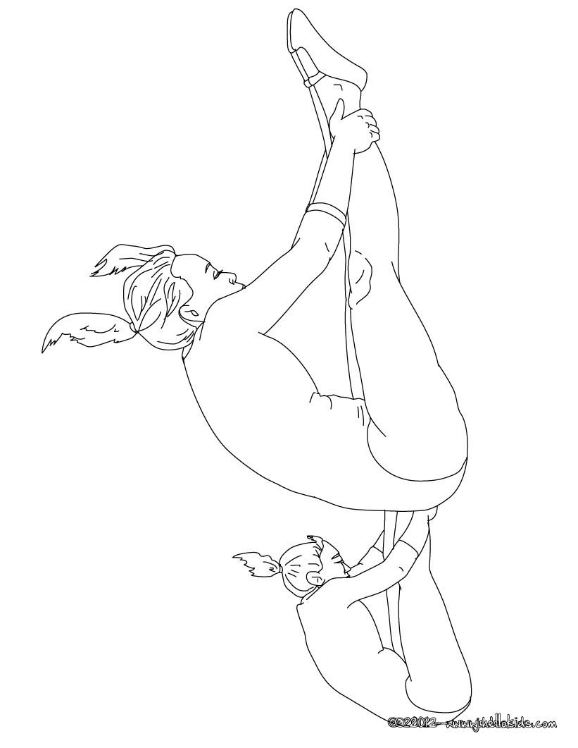 free printable coloring pages gymnastics 2015