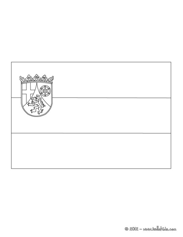 germany flag coloring page # 9