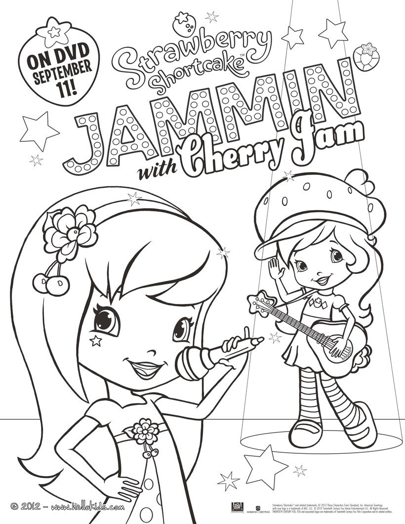 Strawberry Shortcake Coloring Pages 30 Online Toy Dolls Printables For Girls
