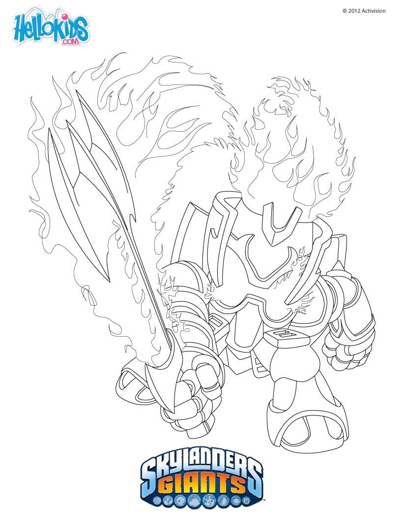 Skylanders Giants Coloring Pages 52 Free Online Printables For Kids