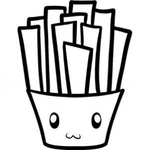 fries draw step french drawing coloring fry pages steps hellokids clipart line tiny