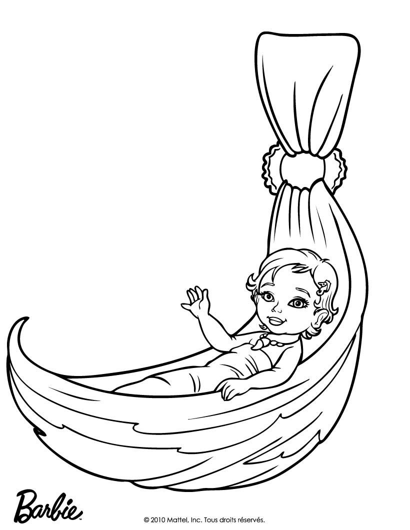 Baby Mermaid Coloring Pages : mermaid, coloring, pages, Merliah, Mermaid, Coloring, Pages, Hellokids.com