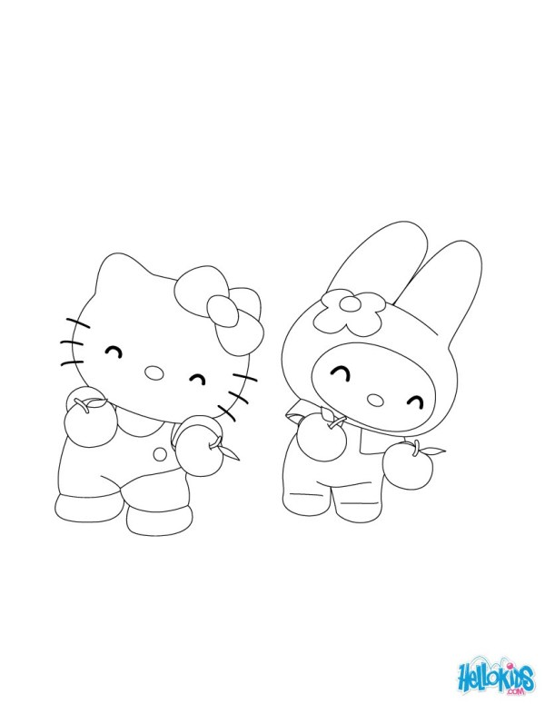 hello kitty coloring pages that you can print # 8