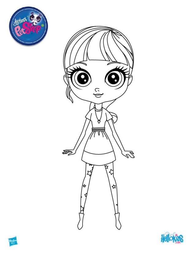 Blythe from littlest pet shop coloring pages - Hellokids.com