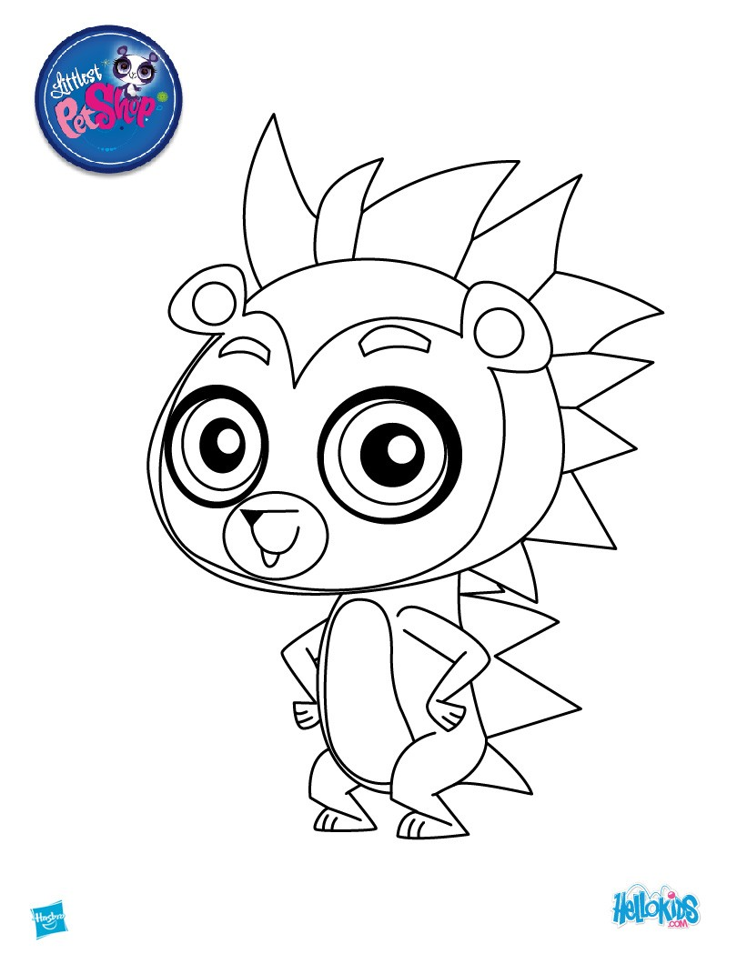 Littlest Pet Shop Coloring Pages 12 Lps Figurine Dolls Online Printables