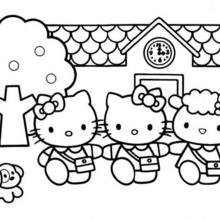 free printable hello kitty coloring pages # 40