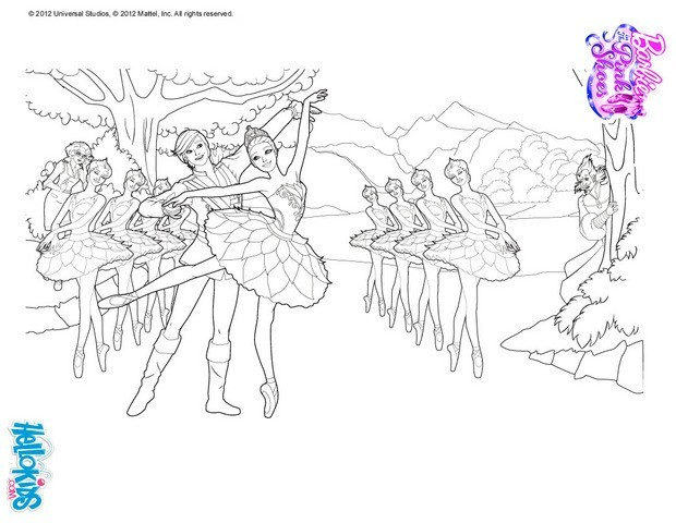 Coloring Pages Print Swan Lake Odile