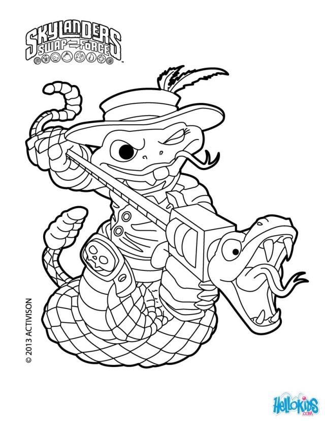Skylanders SWAP FORCE coloring pages - 21 free online printables
