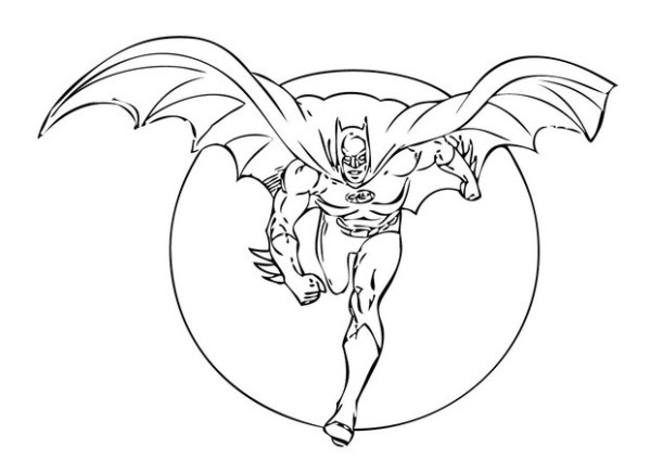 batman printable coloring pages # 52