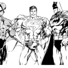 Batman Spiderman And Superman Coloring Pages