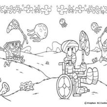 SpongeBob: Free coloring pages, drawing lesson, recipes