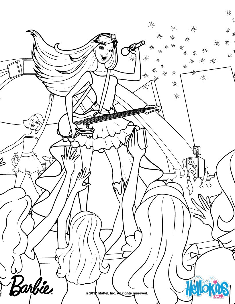 Coloring Pages Online Barbie Cooking