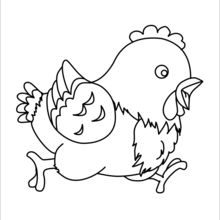 Hen : Coloring pages, Free Online Games, Drawing for Kids