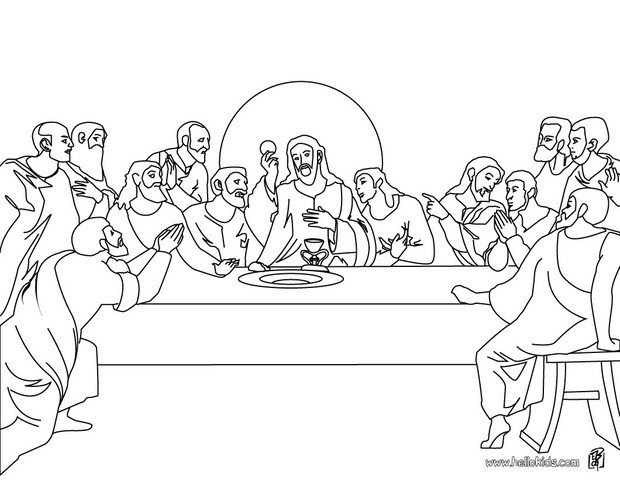 Lords Supper Coloring Pages For Preschool Coloring Pages