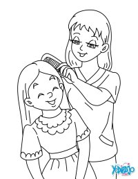 Mother and daughter coloring pages - Hellokids.com
