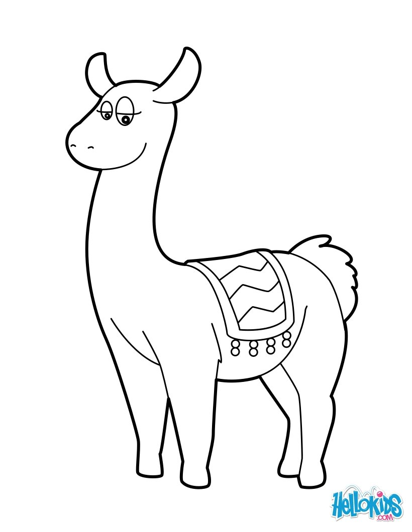 Lama coloring pages - Hellokids