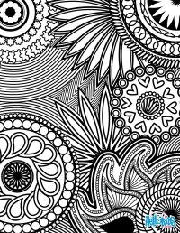 Paisley, hearts and flowers anti-stress coloring design ...
